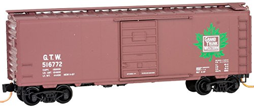 Micro-Trains MTL N-Scale 40ft Standard Box Car Grand Trunk Western/GTW ()