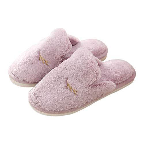 Cotone 40 Coniglio Indoor 41 Westeng Pantofole Invernale Stile In Per Antiscivolo Morbido Di Porpora Adorabile Donna Caldo Scarpe EEqRan