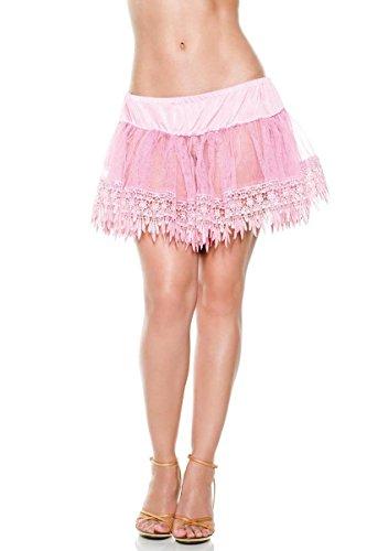Pink Teardrop Petticoat (Teardrop Petticoat Costume Accessory - One Size Plus - Dress Size 16-20)