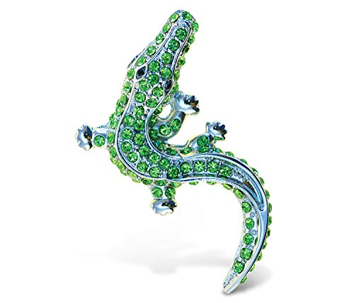 Puzzled Alligator Refrigerator Sparkling Magnets with Crystals - Reptiles Theme - Unique Affordable Gift and Souvenir - Item #7220