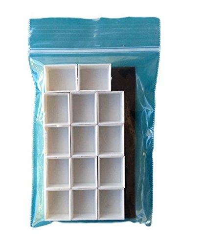 Daybook Studio vacío Watercolor pintura sartenes - 14 sartenes con 1 tira magnética: Amazon.es: Juguetes y juegos
