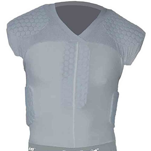 McDavid Classic Logo 7867 CL Hexpad Football Shirt Upper Body-Grey-Large (Mcdavid Hexpad Body Shirt)