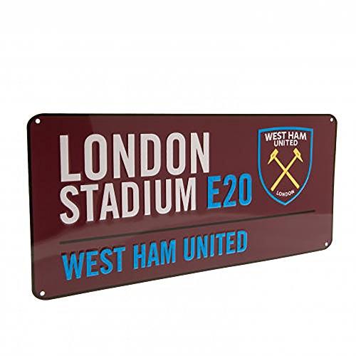 9ef496dd4982e Official Licensed West Ham United F.C - Metal Street Sign (CL)