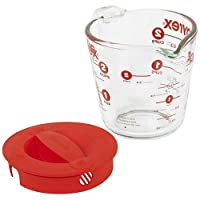 Pyrex Prepware 2-Cup Glass Measuring Cup with Lid