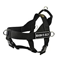 Dean & Tyler Universal Fun No Pull Dog Harness, Mamma's Boy, X-Large, Fits Girth Size: 36-Inch to 47-Inch, Black