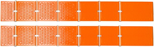 Reusable Revolution Tire Traction Mats & Chock - Emergency Traction Pad (Orange)