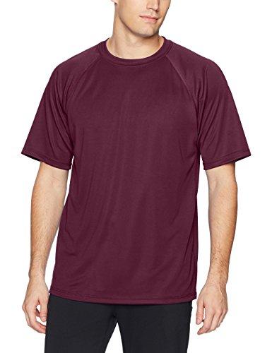 Intensity Men's Shorts Sleeve Performance Shirt, Maroon, (Novelty Soffe Short)