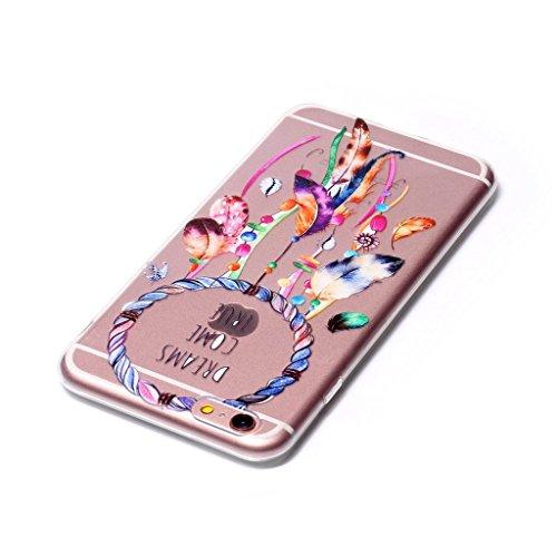 "iPhone 6 Plus / 6S Plus Coque , Leiai Transparent Mode Ultra-mince Campanule Silicone Doux TPU Housse Gel Etui Case Cover pour Apple iPhone 6 Plus / 6S Plus 5.5"""