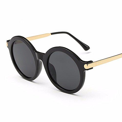Xiaogege Película Box Color Sol Uv Big Azul De Negro Personalizado Gafas Redondas tqnx1rBWt