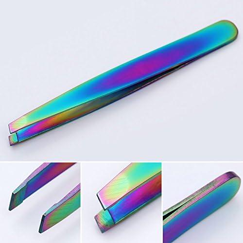 GUOJIAYI 3 Pcステンレス鋼の眉毛ピンセットチップまつげカーラー化粧道具
