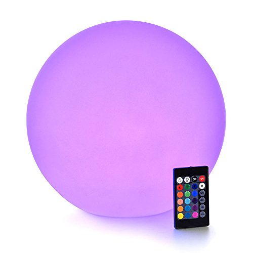 LOFTEK LED Light Up Ball : 12-inch RGB Color Changing Glow Ball with Remote Control