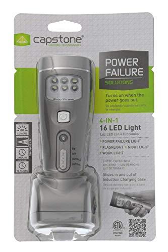 Capstone 4-in-1 Eco-I-Lite, Rechargeable LED Emergency Flashlight, Night Light, Power Failure ...
