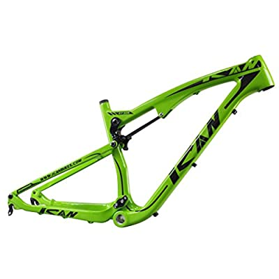 ICAN 27.5er/650B Mountain Bike Suspension Carbon Fiber Frame 142mm Thru Axle and 135mm QR Interchangeable