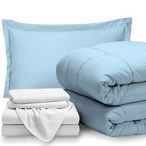 light blue bedding twin - 7
