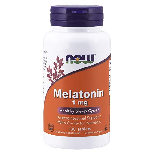 NOW Supplements, Melatonin 1 mg, with Co-Factor Nutrients, 100 Tablets