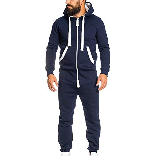 Men's Unisex Zip Hoodie Non Footed Fleece Onesie
