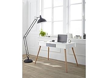 Petit bureau pas cher kennedy bureau blanc: amazon.fr: cuisine & maison