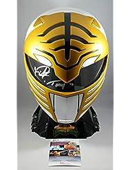 Jason David Frank Signed Mighty Morphin Power Rangers White Ranger Lightning Collection Full Size Helmet w/JSA COA