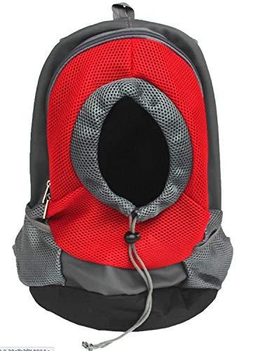 Red Pet Backpack Dog Backpack Chest Bag Dog Walking Portable Travel pet Supplies S (color   Red)