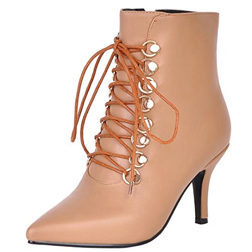 AIYOUMEI Women's Classic Boot apricot 4pcozH6