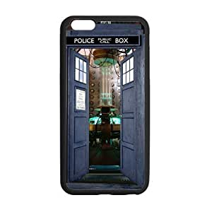 Doctor Who Tardis Open Door Case Custom Durable Hard Cover Case for iPhone 6 Plus - 5.5 inches case - Black Case