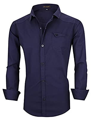 Nature Lovers Mens Dress Shirts Slim Fit Long Sleeve Button Down Shirts