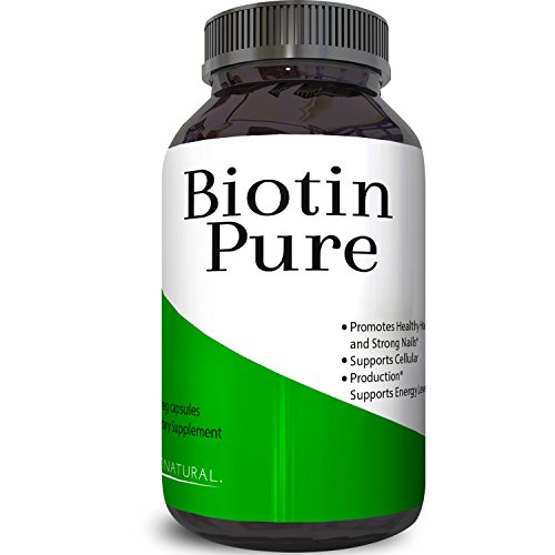 Best Biotin Pure Supplement Natural Pills for Hair Nail and Skin Health Potent Vitamins for Skin Care and Reduce Hair Loss Great For Metabolism and Digestion For Men & Women by Biogreen Labs