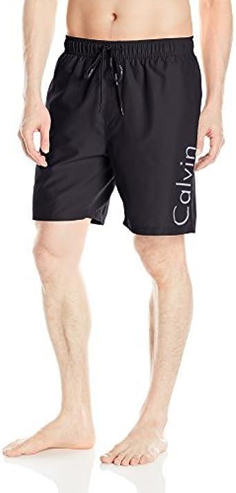 Calvin Klein Men's 7 Inch Elastic Waist Quick Dry