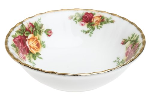 - Royal Albert Old Country Roses 4-1/2-ounce Fruit Bowls, Set of 4