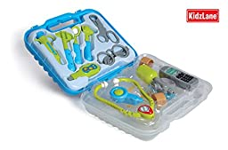 Durable Kids Doctor Kit with Electronic Stethoscope and 12 Medical Doctor's Equipment, Packed in a Sturdy Gift Case
