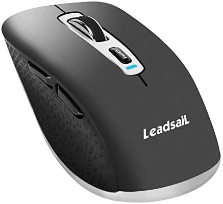 LeadaiL Rechargeable Wireless Bluetooth Mouse (Grey)