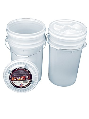 Bucket Kit, Two White 7 Gallon Buckets with White Gamma Seal Lids