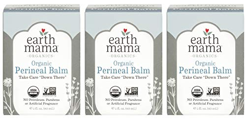 m by Earth Mama | Naturally Cooling Herbal Salve for Pregnancy and Postpartum Relief, 2-Fluid Ounce (3-Pack) ()