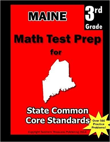 Book Maine 3rd Grade Math Test Prep: Common Core Learning Standards by Teachers' Treasures (2013-01-11)
