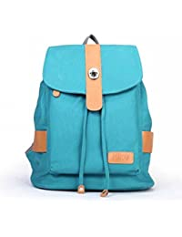 Women Girls Canvas Casual School Backpack Daypack Book Bag