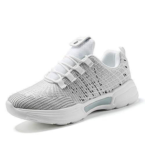 Idea Frames Fiber Optic LED Light Up Shoes for Women Men USB Charging Fashion Sneaker Grey -