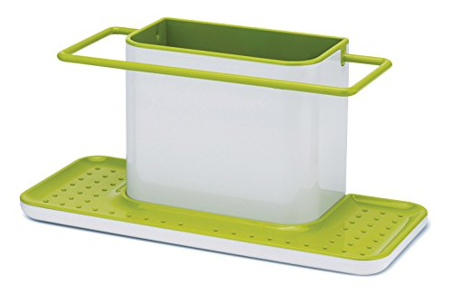 Joseph Joseph 85049 Sink Caddy Kitchen Sink Organizer Sponge Holder Dishwasher-Safe, Large, Green