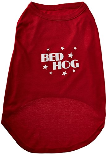 Dog Hog Pet Bed - Mirage Pet Products 20-Inch Bed Hog Screen Printed Shirt, 3X-Large, Red