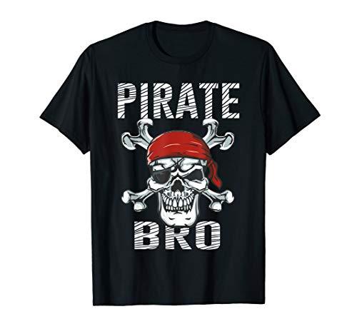 Pirate Brother Shirt | Boys Skull Crossbones Flag Halloween -