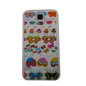 QHY The Beautiful Butterfly Pattern PC Back Case for Samsung S5/I9600