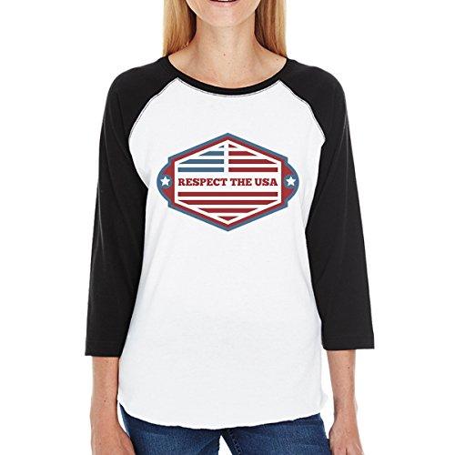 Femme Courtes shirt Usa Unique Taille Printing T Manches The Respect 365 1wZIXCaZ
