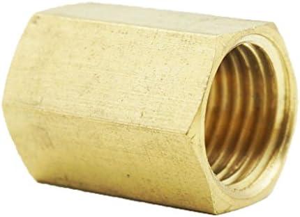 バーブ付き ダブルエンド雌 ネジ式 カプラ コネクタ アダプタ 高強度 高級真鍮製 - 1/4通心