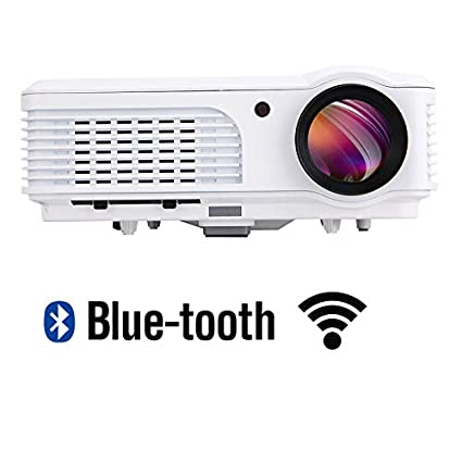 EUG 4400 Lumens Smart HD Video Projector TV Home Theater Movie Projectors Wifi Bluetooth 1080P LED LCD Android Wireless Outdoor Proyector HDMI USB VGA ...