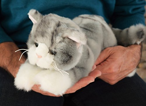 Small Grey Tiger Cat- Stuffed Animal Therapy for People with Memory Loss with Aging and Caregivers