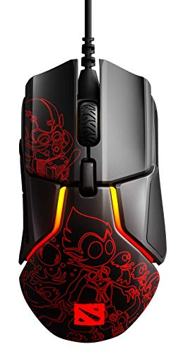 SteelSeries Rival 600 Gaming Mouse - 12, 000 CPI TrueMove3+ Dual Optical Sensor - 0.5 Lift-Off Distance - Weight System - Dota 2 Design PC