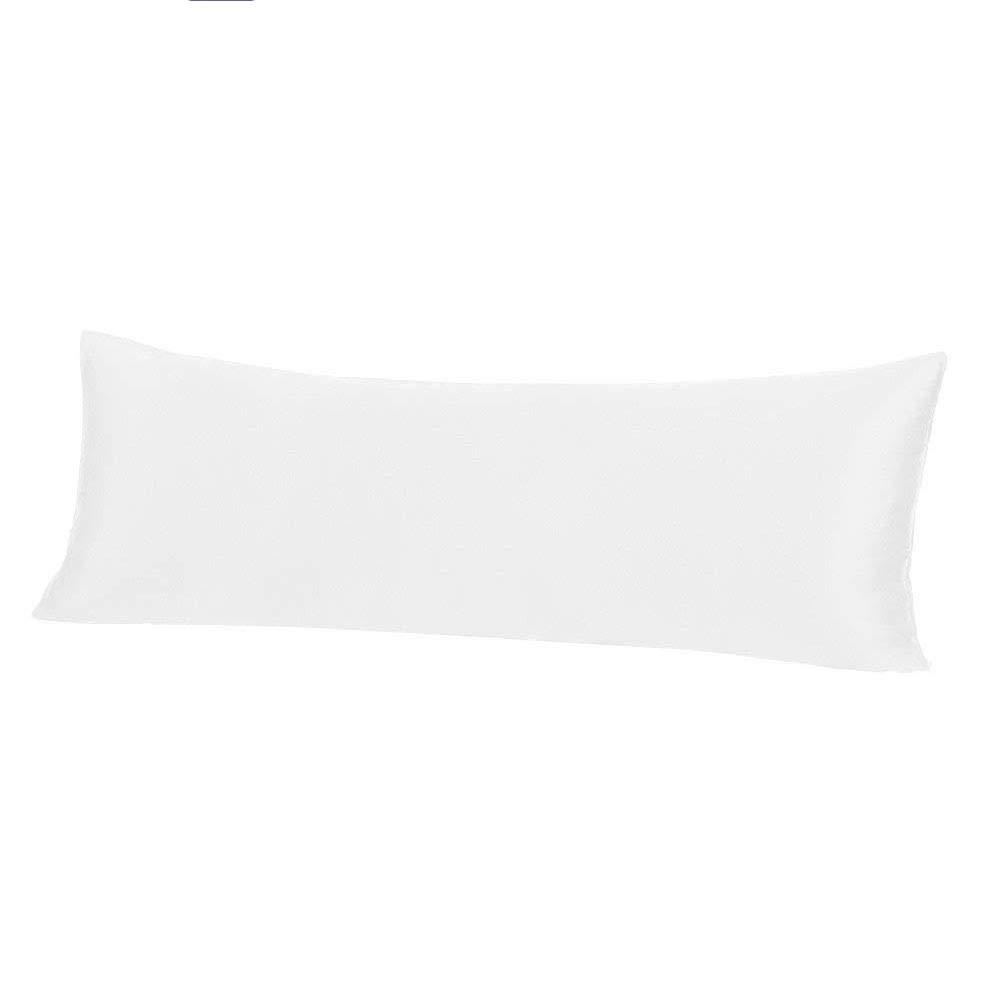 thxsilk 22匁Mulberryシルクボディ枕カバー枕カバー隠しファスナー付き – 低刺激性通気性純粋天然シルク両側に 20x54 inch ホワイト W01W10522Y B07CRJ92L8 オフホワイト 20x54 inch