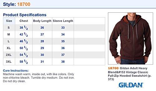 Gildan Men S Vintage Classic Full Zipper Hooded Sweatshirt At Amazon