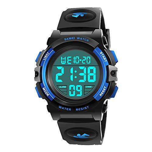 My-My Watch for 5-12 Years Old Boys, Led Kids Watch Birthday Gifts for Boys Girls Cool Party Halloween Costume Party Favors Light Up Toys 2018 Christmas Gifts for kids Stocking Fillers Blue MMXSB02 ()