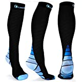 Cambivo Compression Socks for Women & Men, fit for Running, Athletic Sports, Crossfit, Flight, Travel, Pregnancy, Nurses, Enhance Circulation & Speed-up Muscle Recovery (20-30 mmHg)