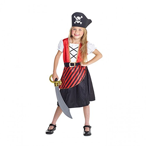 [Girls Red Pirate Costume Small Med & Large Sizes (Medium)] (Cute Girls Pirate Costumes)
